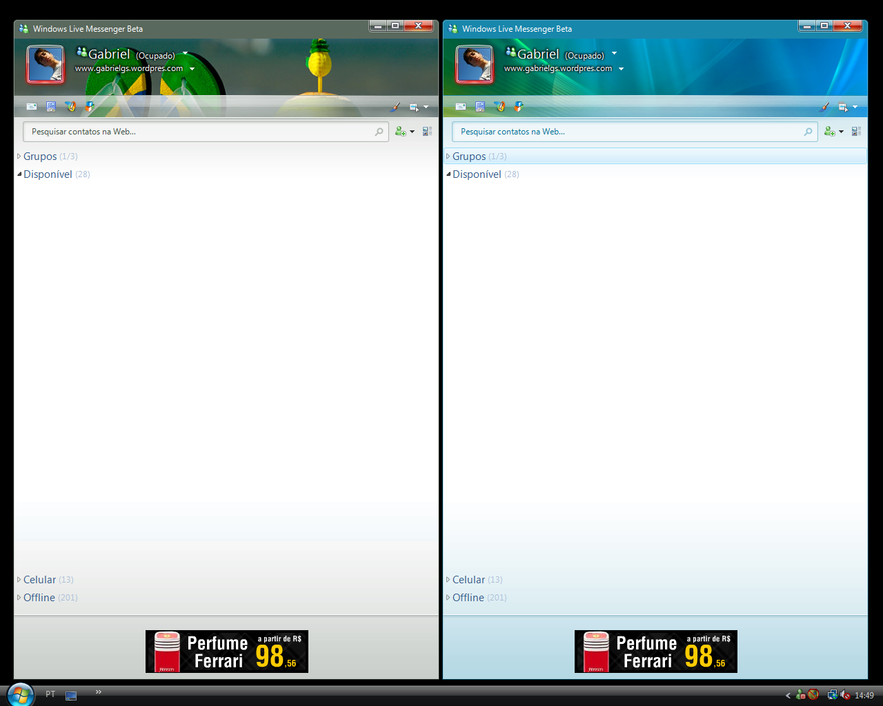 msn live beta: